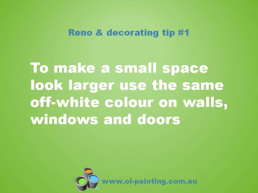 Reno decorating painting tips ol 39 painting blog - Small space tips paint ...