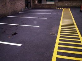 parking and pedestrian traffic line marking strata building